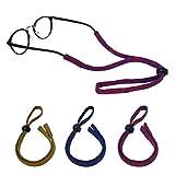 Luff cadena de gafas antideslizantes correa de gafas | retenedor, gafas de deporte ajustables cinturón de fijación de nylon suave y agradable a la piel (women)