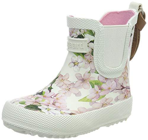 Bisgaard Mädchen Rubber Boot Baby Gummistiefel, Pink (Creme-Flowers 171), 20 EU