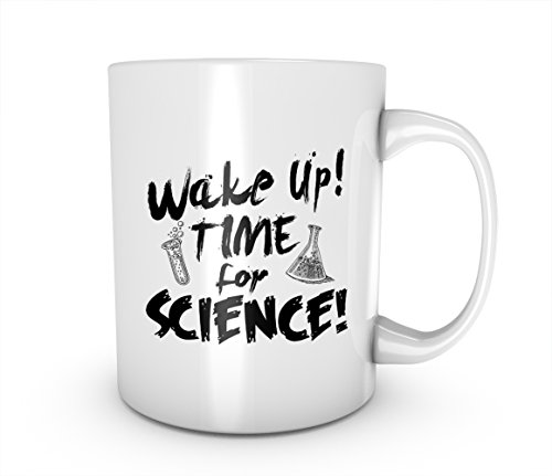 Wake Up Time For Science Chemistry Keramik Tasse Kaffee Tee Becher Mug