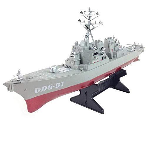 LYXin Destructor de misiles guiados por el ejército Modelo de Barco estático con Soporte de exhibición Modelo de Buque de Guerra DIY Pasatiempos educativos Regalo para niños