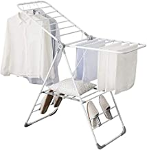Clothes Rack Towel Drying Rack, Laundry Room Bathroom Hotel Multifunction Sheet Drying Rack Home Outdoor Folding Drying Ra...