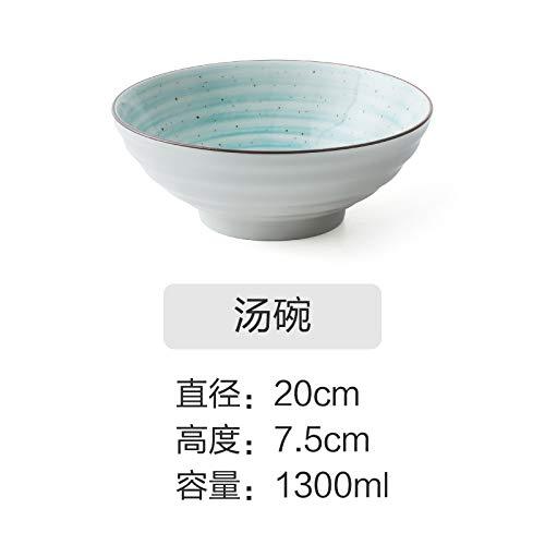 YUWANW Vaisselle En Céramique Peinte À La Main De Style Japonais Bol En Plaque Créative Plat Occidental Plat Plat Simple Plat Ensemble Combinaison De Ménage, Bol À Soupe