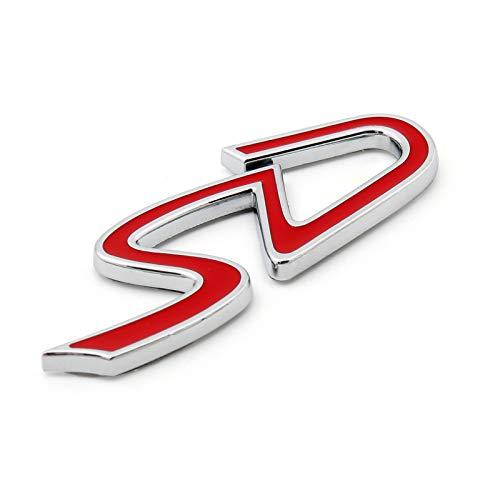 Topteng - Adesivo per auto con stemma SD rosso, per Mini CoO-per, S-ONE CLUB-MAN