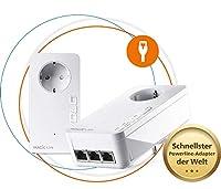 Streaming, jeu et téléchargement simultanés jusqu'à 2400 Mbit/s. L'adaptateur LAN le plus rapide au monde avec la technologie de pointe G.hn. 3 ports Gigabit LAN puissants rendent tout autre commutateur superflu. Excellent réseau domestique à grande ...