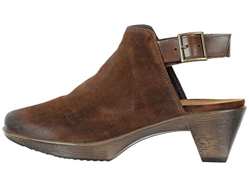 NAOT Footwear's Women's Upgrade Seal Brown Suede/Pecan Brown Clog 9 M US