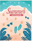 Tropical Print Summer Memory Journal - 120 Pages:Size 8 x 10 Journal