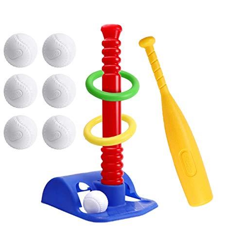 HHYZ Juego de béisbol para niños, con un anillo y 6 bolas, apto para entrenamiento de béisbol de niños y niñas.