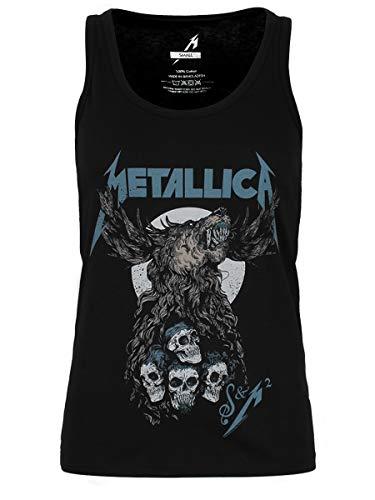 Metallica Damen S&M2 Skulls Vest Weste Schwarz