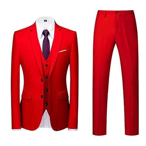 Traje Hombre Suit de 3 Piezas con Chaqueta Chaqueta Chaleco pantalón Hombres...