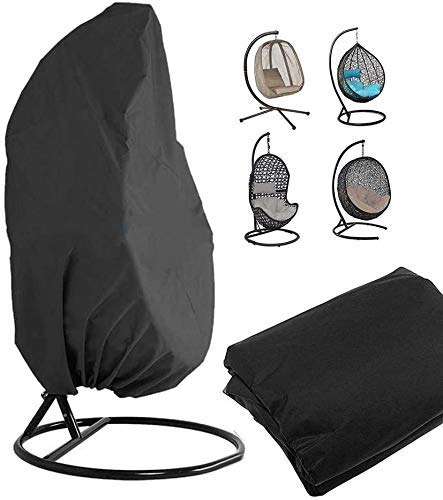 Outdoor Patio Hanging Chair Cover Wicker Egg Chair Covers Heavy Duty Waterproof UP Protect 190x115CM