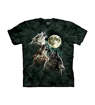 The Mountain Three Wolf Moon Adult T-Shirt Dark Green XL