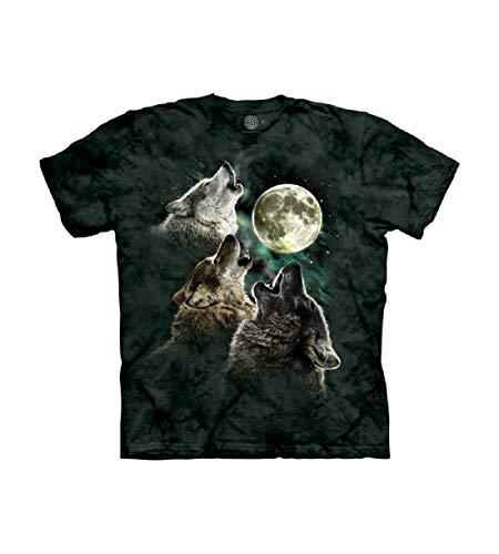 The Mountain T-Shirt à Manches Courtes pour Homme Motif Trois Loups - - Medium