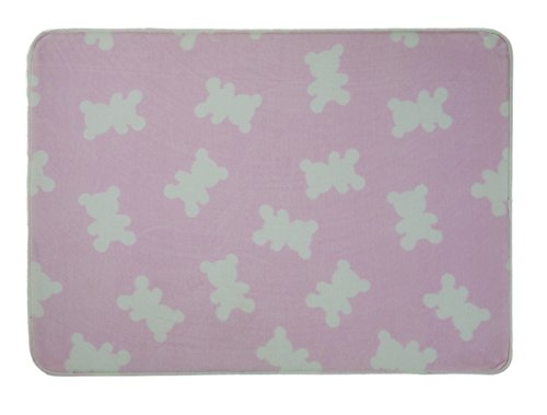 WEST DERBY CARPET ONLINE LTD Tapis Enfant – Tapis pour Enfant – Kids Nursery Ours Rose Tapis 70 cm x 100 cm