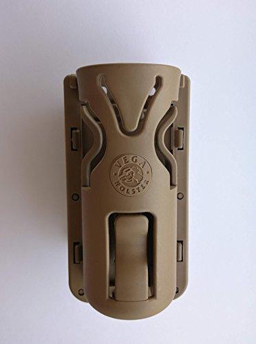 VEGA HOLSTER Taktische Taschenlampenhalterung aus Polymer 8VP61 mit drehbarer Schlaufe (Desert Tan)