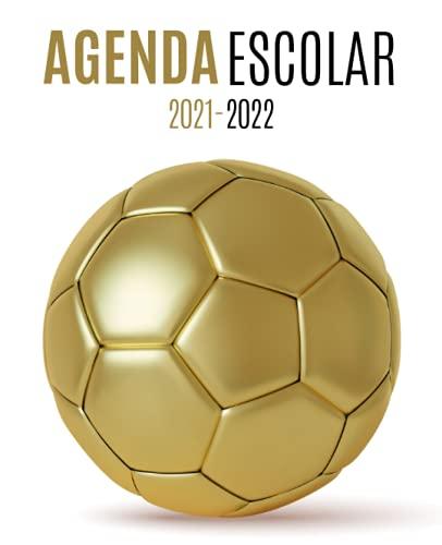 Agenda Escolar 2021-2022 futbol: Planificador semanal para niñas y niños | 1 semana en 2 páginas | Agenda 2021 2022 semana vista | Material escolar colegio secundaria estudiante | Portada Balón