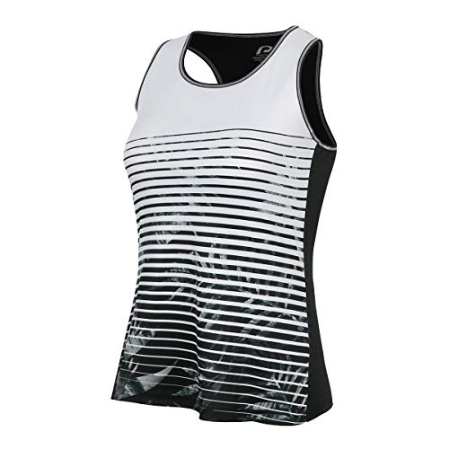 Protective Premium Cycling Tank top for Women, Ergonomic Workout top - 100% Recycled Anthracite