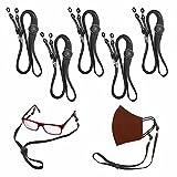 Helafun - 5 Cordones para gafas, Cordón gafas, Convertible en cuelga mascarillas, cadena mascarilla mujer, hombre y niños.