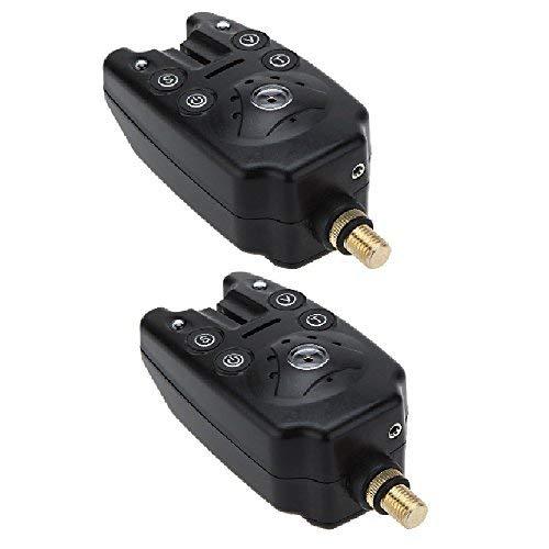 commercial Lixada Fishing Bit Alarm 2LED Carp Fishing Display Waterproof Adjustable Sound… bite alarms