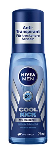 Nivea Men Cool Kick Deodorant, Anti-Transpirant-Schutz, 6er Pack (6 x 75 ml)