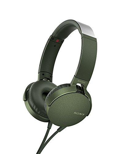 Sony MDR-XB550AP Extrabass Headphones - Green