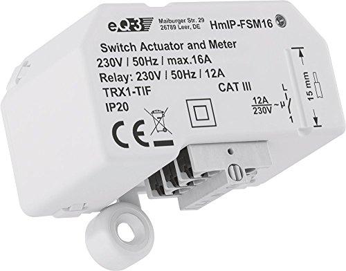 Homematic IP 150239A0 HmIP-FSM16 Schalt-Mess-Aktor, 230 V