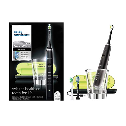 Philips Sonicare Diamond Clean Rechargeable Toothbrush with Adaptive Clean Brush Head, Black
