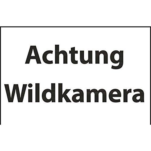 "Hinweis-Schild ""Achtung Wildkamera"" | 30x20 cm | Wildbeobachtung | Tierbeobachtung | Jäger | Info-Schild"