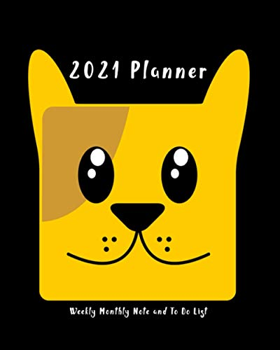 2021 Planner: Pug Lover Gift, 1 Year Weekly, Monthly Agenda Schedule Planner And Organizer, At A Glance Calendar, To-Do List And Notes, Pug Chihuahaua Cute Face Puppy Theme Cover