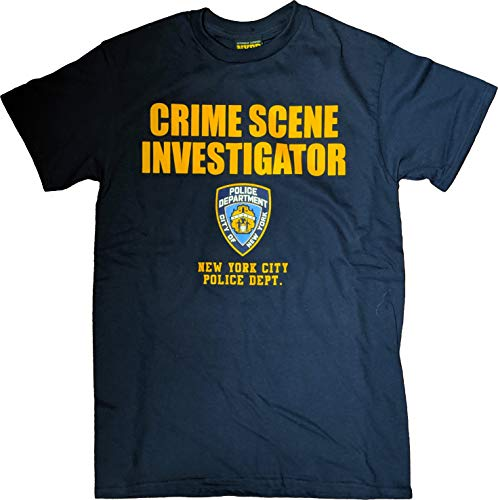 NYPD CSI New York Crime Scene Tee Investigation T-Shirt Navy Medium