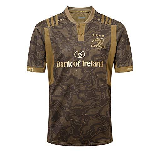 2018 Munster City World Cup Rugby Jersey, Herren Rugby Baumwolle Jersey Grafik T-Shirt, Home/Away Rugby Fan T-Shirts Drucken Top Kurzarm, Geschenk Für Einen Freund Brown-S