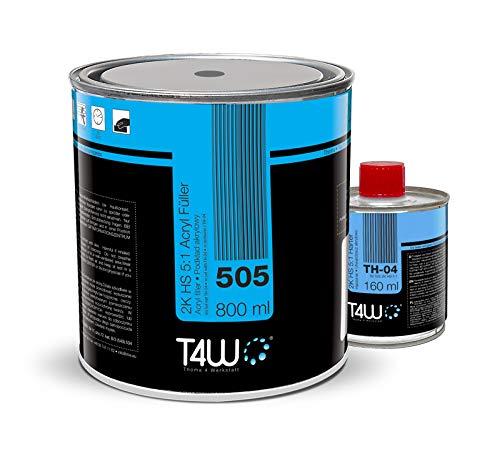 T4W 505 Acryl Füller Grundierung 5:1 Weiss - 0,8 Liter + Härter 0,16 Liter (59030)