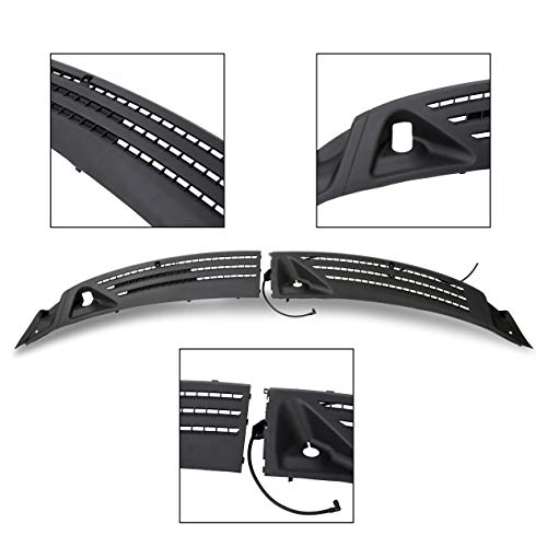 ECOTRIC Outer Windshield Window Front Wiper Cowl Cover Panel Right Left for 2004-2008 Ford F-150