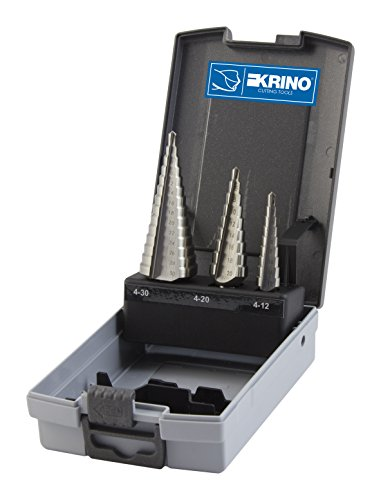 Krino 01259102–Broca escalonada (para acero y metales, Juego de 3unidades)