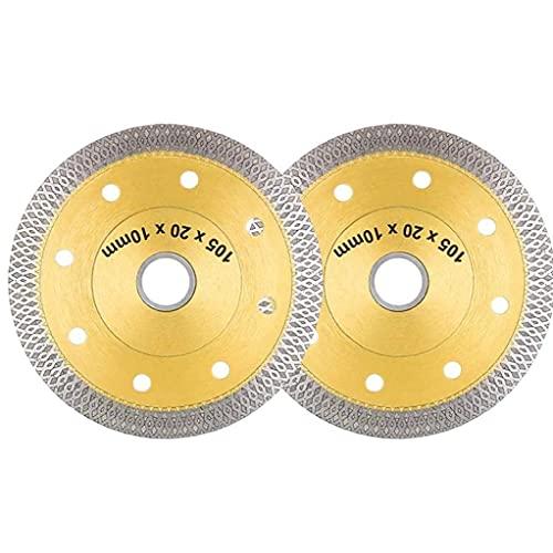Såg Wheel Diamond Disc Wheel tunn skiva Wheel 4 tum för Tile Saw vinkelslipar 2ST, Cutting kakel redskap