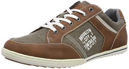 TOM TAILOR Herren 695100330 Sneaker, Braun (Cognac 00205), 43 EU