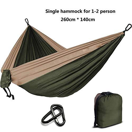 UKKD Hamac Camping Hamac Parachute Survie Jardin Meubles De Jardin Loisirs Dormir Hamaca Voyage Hamac,Orange