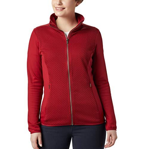Columbia Roffe Ridge Forro Polar con Cremallera Completa, Mujer, Color: Rojo (Beet), Talla: S
