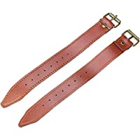 PedalPro Faux Leather Basket Straps - Set of two Available in black, brown or white with brass metal buckle Ideal for wicker bicycle baskets - Allows you to secure wicker baskets onto bicycle handlebars 8 fastening holes enable straps to fit various ...