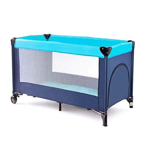 0-3 Ans Centre de Bébé Pliant Portable Lit de Voyage 125 X 65 X 76cm Ouverture Latérale Berceau Portable Bed