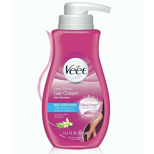 Veet Gel Hair Remover Cream, Sensitive Formula, 13.5 oz (Pack of 3)