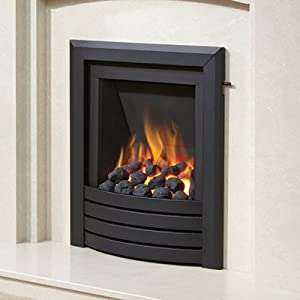 Be Modern Alcazar Slimline Inset Gas Fire Slide Control Black Design Trim
