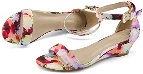 Colorful wedges shoes _image3