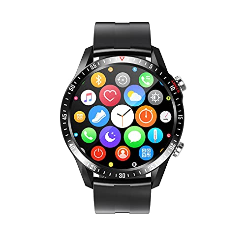 N\C 1. 28 pulgadas pantalla táctil redonda deportes reloj inteligente Bluetooth monitoreo de llamadas ritmo cardíaco podómetro GPS Monitoreo inteligente música llamada pulsera IP67 impermeable