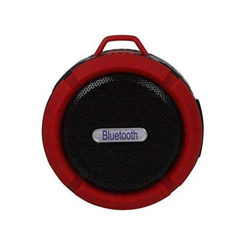 LLKK Altavoz bluetooth rojo mini altavoz portátil Bluetooth V3.0 carga inalámbrica impermeable ducha 5W- se aplica a la piscina del coche, oficina u oficina