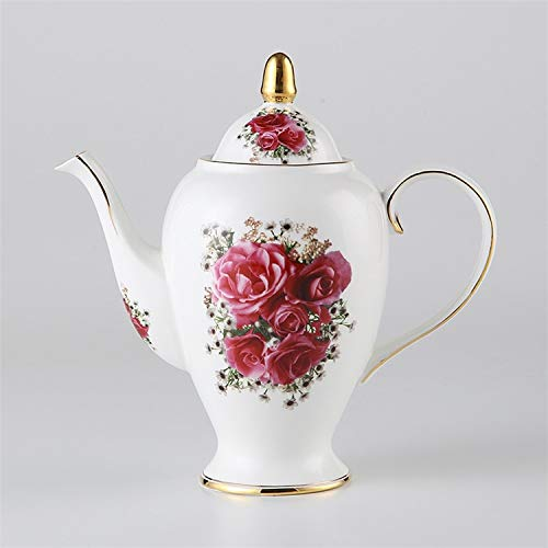 Olla de té de Porcelana de Hueso de la Vendimia con infusor...