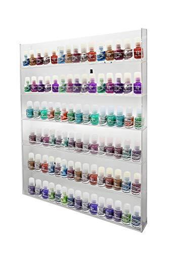 1 estante de esmalte de uñas acrílico brillante para montaje en pared de 6 x 15 ANPR23A-090