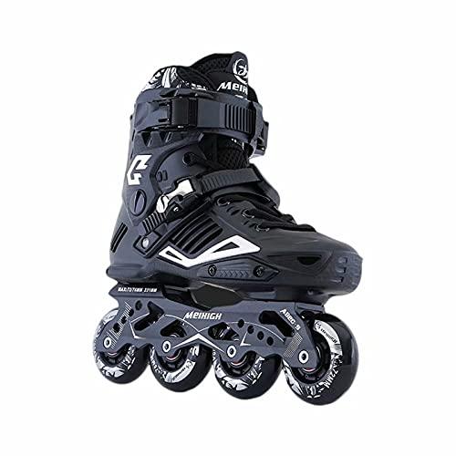 Zapatos de Patinaje de Velocidad para Adultos, Patines de Cuatro Ruedas Resistentes y Transpirables, Patines en línea Unisex