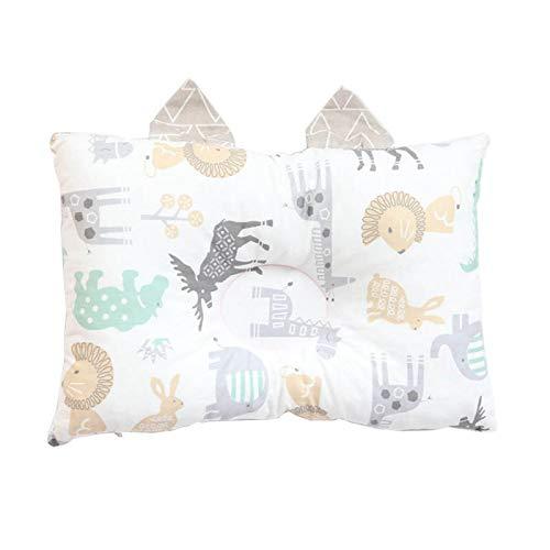 SFBBBO pillow Pillow For Newborns Cotton Anti Flat Head Pillow For Infant Boys Nordic Detachable Kids Cushion Room Decoration Animals