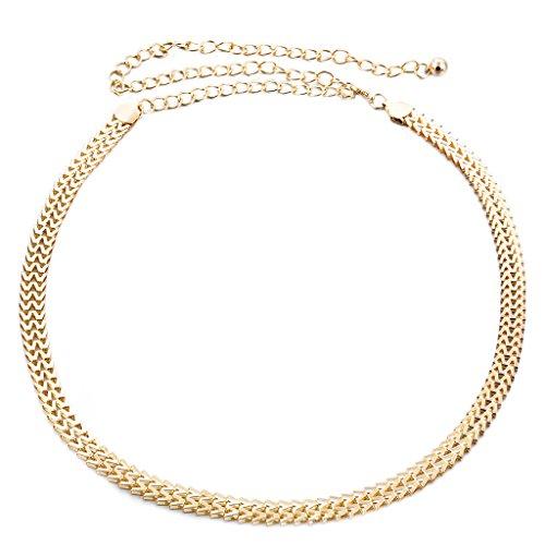 Desconocido Cinturones Cadena De Vestido De Cintura Con Cuentas De Cristal De Diamante Correa Para Mujeres