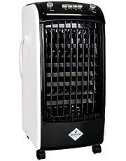 Eldom - Columbiavac bärbar luftkylare (avdunstningskola) KC100 med 3 fläkthastigheter och oscillationsfunktion och 2 liter vattentank för hemmet eller kontoret